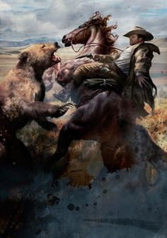 I fantasy art: Artist: Cliff Nielsen . Cowboy Artwork, Cowboy Pictures, Hunting Art, West Art, Le Far West, Mountain Man, Wildlife Art, Horse Art, Native American Art