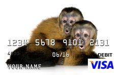 Show your love of cute animals with a custom pre-paid custom Visa #prepaid #Visa