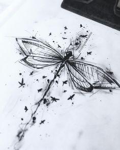 Drawing created by Rodrigo Assi (rodrigoassitattoo) from .-Zeichnung erstellt von Rodrigo Assi (rodrigoassitattoo) von Balneário Camboriú – SC … – Best Tattoos Drawing created by Rodrigo Assi (rodrigoassitattoo) by Balneário Camboriú SC - Music Tattoos, Body Art Tattoos, New Tattoos, Sleeve Tattoos, Small Tattoos, Tatoos, Nature Tattoos, Dragonfly Art, Dragonfly Tattoo
