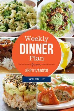 Skinnytaste Dinner Plan (Week 17) | Skinnytaste.com | Bloglovin'