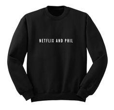 Netflix and Phil Sweater Crew Neck Sweatshirt by ProFangirlShop