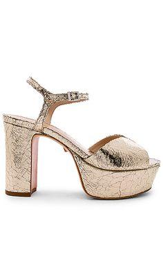 1cdc954f4 Schutz Patricia Platform Sandal in Platina | REVOLVE Wedding Shoes, Heeled  Mules, Sandal,