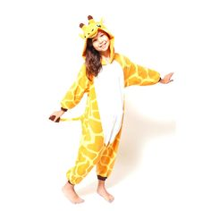 This baby giraffe onesie is adorable, and it's supremely comfortable to relax in. Little kids feel taller the minute they slip into it. 100% polyester fleece Ma