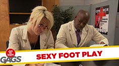 Sexy Flirty Footsie Prank - Throwback Thursday