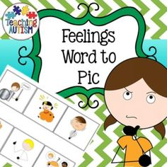 Feelings, Emotions, Word to Pic Matching, Reading Strategies, ASDThis product includes 9 x word to pic matching activities relating to different feelings/emotions. Great for helping students to build understanding of feelings/emotions, building vocabulary and if students are able to recognise the written word of the feelings/emotions.Laminate the picture as a page to use as a board.