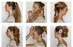 Updo Tutorial - #bridalhair #specialoccasion #bridesmaidhair #flowerinhair #updo #hairstyle #hairdo - bellashoot.com