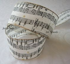 Music Ribbon Music Clef Notes Sheet Music Musical by JetJewels