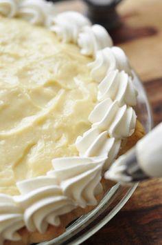 From Scratch Banana Cream Pie. #desserts #pies