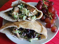 Chicken, Broccoli and Dried Cranberry Pita Pockets