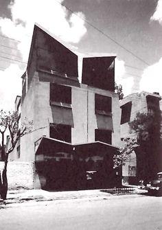 Félix Candela & Roberto Engelking: Edificio de oficinas, Asociación de Viajes de México, calle Genova 33, Zona Rosa, Col. Juárez, México DF, 1956.