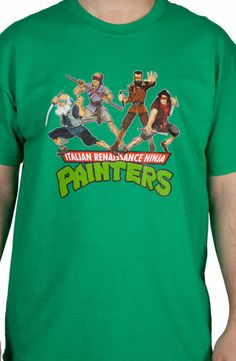 I must have this. Italian Renaissance Ninja Painters Shirt: Teenage Mutant Ninja Turtles