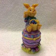 A personal favorite from my Etsy shop https://www.etsy.com/listing/457968578/easter-bunny-egg-shaped-trinket-box-free