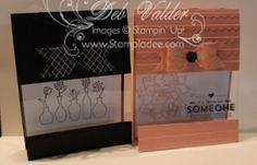 Vivid Vases Envelop Punch Board Bow Window Shelf Card