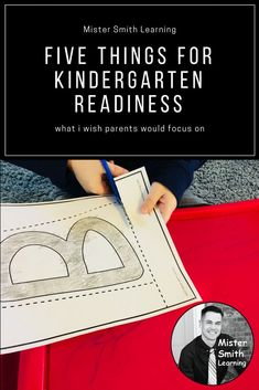 Five Things for Kindergarten Readiness: What I Wish Parents Would Focus On. Mister Smith has worked with thousands of kindergarten and preschool students. He has boiled his experience into 5 areas of focus. Kindergarten Special Education, Kindergarten Readiness, School Readiness, Preschool Kindergarten, Preschool Learning, Kids Education, Teaching Kids, Literacy Skills, Education Degree