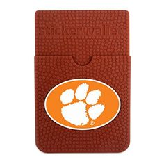 NCAA Sticker Wallet  http://allstarsportsfan.com/product/ncaa-sticker-wallet/?attribute_pa_teamname=clemson-tigers&attribute_pa_color=brown  Sticks to your phone Officially licensed Wear your love, wear the game