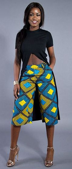 Make an entrance this season in our ultra-flattering African print culottes. Culottes, Ankara culottes, high waist culottes, African print culottes, African fashion, African pants, Ankara pants, shorts,summer culottes. Ankara | Dutch wax | Kente | Kitenge | Dashiki | African print dress | African fashion | African women dresses | African prints | Nigerian style | Ghanaian fashion | Senegal fashion | Kenya fashion | Nigerian fashion | Ankara crop top (affiliate)