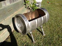 Beer keg fire pit.