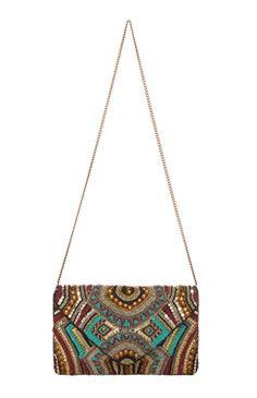 Primark - Embellished Fold Over Bag - 2019 Beaded Clutch, Beaded Bags, Handmade Handbags, Handmade Bags, Primark, Potli Bags, Embroidery Bags, Stylish Handbags, Purse Styles