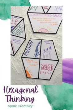 Want to get started with hexagonal thinking in your classroom, but not sure how? Check out these easy-to-use resources and put them into action tomorrow! #hexagonalthinking #iteachela English Classroom Decor, Ela Classroom, English Teachers, Teaching English, English Projects, Blended Learning, Teaching Strategies, Teacher Resources, Lesson Plans