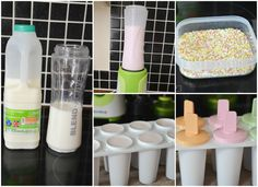 Sykes Cottages Creative Homemade Ice Lolly Competition: Strawberry Milkshake Ice Lollies from Life With Pink Princesses.