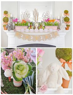 Bunny Birthday Party - SO many ideas you could use for an Easter party, though!