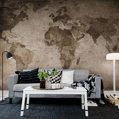PAINEL FOTOGRÁFICO WORLD MAP - ALL DECOR BOUTIQUE