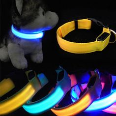 Get your very own Dog LED Collar! Walk your pet at night, or simply show them off with this very cool collar! Not Sold In Stores.
