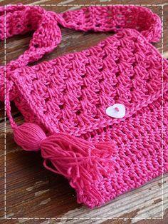 Kouzlo mého domova: Háčkovaná kabelka pro malé slečny