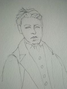 Dibujo a Rimbaud.