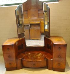 Vintage Dressing Ziggy Sawdust Findings: Art deco dressing table, in need of a little TLC!