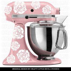 Rose Mixer Decal Set by CraftyLittleDevilLTD on Etsy
