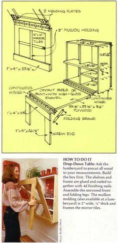 mesa de embutir com armário