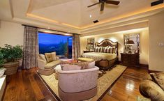 Luxury master bedroom with amazing open view balcony Bedroom Wood Floor, Tan Bedroom, Bedroom Balcony, Couple Bedroom, Small Room Bedroom, Small Rooms, Master Bedroom, Bedroom Decor, Bedroom Ideas