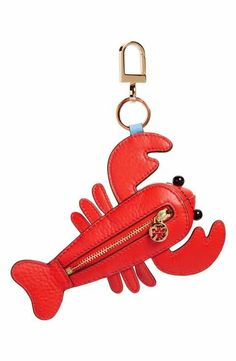 Tory Burch Larry Lobster Leather Bag Charm Source by Accs Leather Craft, Leather Bag, Cute Keychain, Keychains, Bag Clips, Mini Purse, Small Leather Goods, Cute Bags, Tory Burch Bag