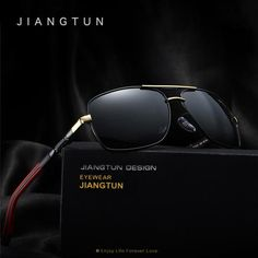 JIANGTUN Luxury Brand New Polarized Men's Sunglasses Sun Glasses Men Driving Goggle Eyewear Accessories