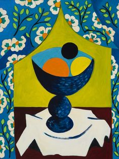 """Susie Phillips, """"Still Life with Blue Curtains"""""""