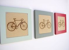retro revival bicycle engraving, $76 on etsy