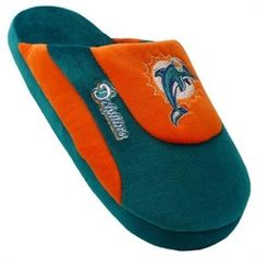 Miami Dolphins Mens House Shoes Slippers