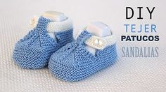 Discover thousands of images about DIY Cómo tejer patucos sandalia para bebe (patrones gratis) Booties Crochet, Crochet Shoes, Crochet Slippers, Crochet Yarn, Baby Knitting Patterns, Knitting For Kids, Crochet For Kids, Knit Baby Shoes, Knit Baby Booties