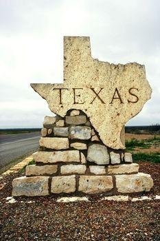 Sign along the highway as you enter Texas