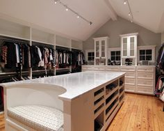 good use of attic space for a closet.