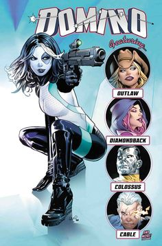 Browse the Marvel Comics issue DOMINO ANNUAL 1 Learn where to read it, and check out the comic's cover art, variants, writers, & more! Domino Marvel, Domino Comics, Marvel E Dc, Marvel Girls, Comics Girls, Dc Comics, Cosmic Comics, Marvel News, Comic Book Characters