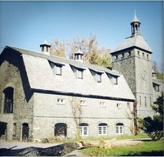 Magnificent Stone Barn~ Even Has  A Steeple And Clock....These Barns Are Built To Last!!   ..rh