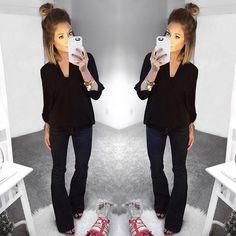276 Best Black Jeans Outfit Ideas Images Moda Femenina