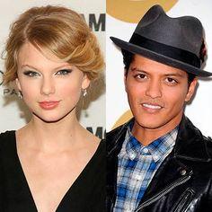Bruno Mars e Taylor Swift no VMA