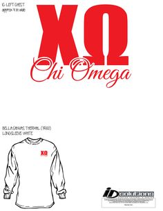 Oklahoma Chi Omega t-shirt #chio #tshirt #greek #winter #thermal