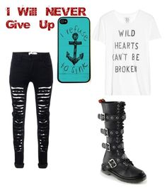"""""""Never ever give up"""" by destiny-demon ❤ liked on Polyvore featuring Zoe Karssen"""