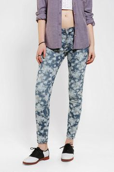 BDG Twig Mid-Rise Jean - Floral Print Online Only Available in Two Lengths!