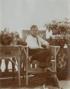 Tsarevich Alexei Nikolaevich em Livadia, 1913-1914.