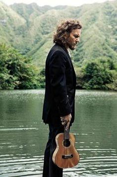 Eddie Vedder .  Not a bandwagon Jumper..or Newbie to the Ukulele scene..Eddies first instrument was a Ukulele.